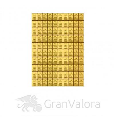 100 x 1g Gold Tafelbarren (Goldtafel, CombiBar)