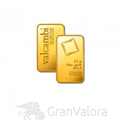 2,5g Goldbarren (Umicore, Valcambi)