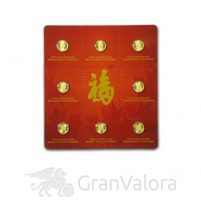 Gold Maplegram (8 x 1 Gramm Goldmünzen)