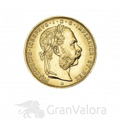 8 Florin / 20 Franken Goldmünze Österreich