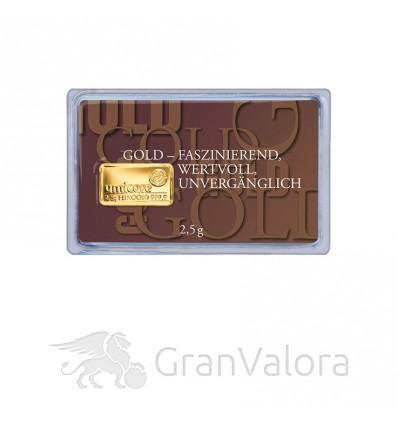 2,5g Gold Geschenkbarren - Faszination