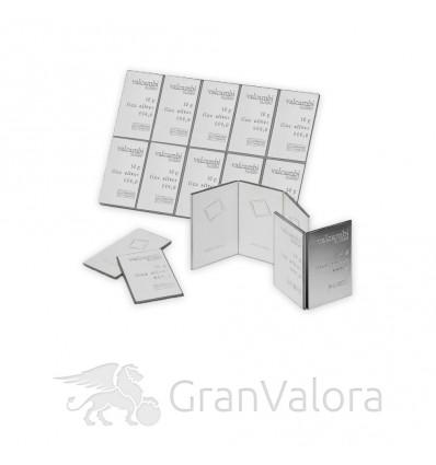 10 x 10g Silber Tafelbarren (Münztafel)