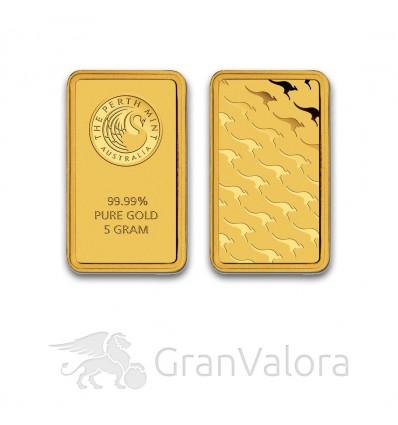 5 g Goldbarren Perth Mint (Känguru)