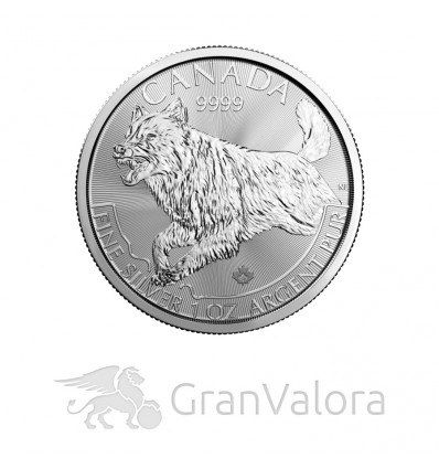 1oz Silber Canadian Predators - Wolf 2018