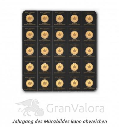 Gold Maplegram (25 x 1 Gramm Goldmünzen)