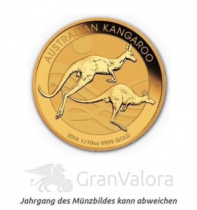 1/10 oz Gold Känguru (Nugget) ältere Jahrgänge