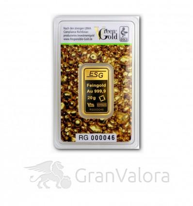 20g Gold Responsible Goldbarren