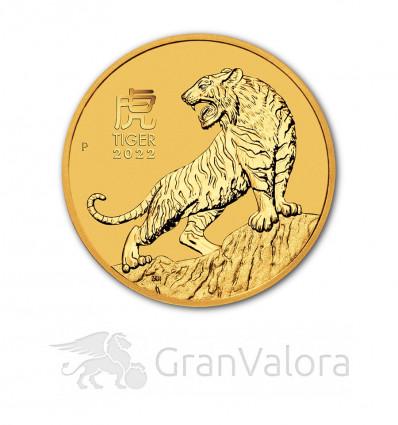 1 oz Gold Lunar III Tiger 2022