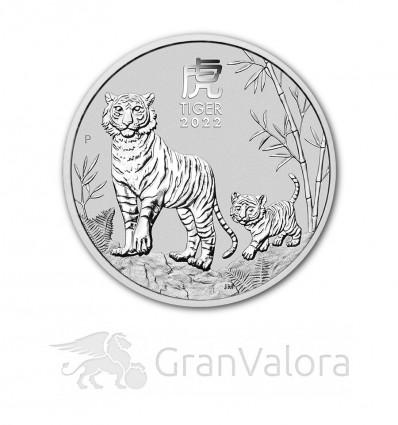 1 oz Silber Lunar III Tiger 2022