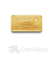 10 g Goldbarren C. Hafner