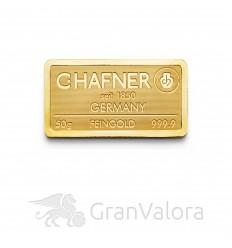50 g Goldbarren C. Hafner