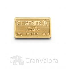 100 g Goldbarren C. Hafner